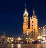 Krakau-Hauptleitungs-Marktplatz Lizenzfreie Stockbilder