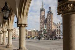 Krakau - Hauptmarktplatz Stockbilder