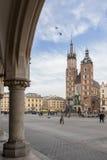 Krakau - Hauptmarktplatz Stockfotos