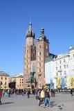 Krakau-Hauptplatz Lizenzfreies Stockfoto