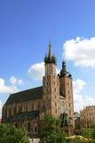 Krakau, Kerk Polen - Mariacki Stock Foto's