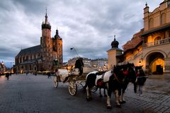 Krakau (Krakau) in Polen Stockfotografie