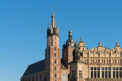 Krakau Krakau, Polen - Oriëntatiepunten van de Oude Stad: St Mary ` s Royalty-vrije Stock Fotografie