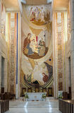 Krakau, Lagiewniki - die Mitte von Papst John Paul II Stockbild