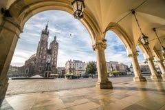 Krakau-Marktplatz, Polen Stockbild
