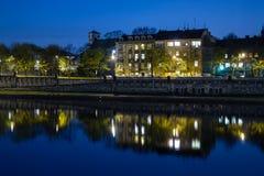 Krakau-Nacht Stockfoto