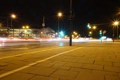 Krakau nachts lizenzfreies stockbild