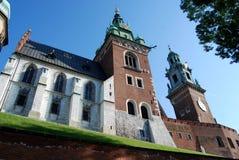 Krakau, Polen: 14 Jahrhundert Wawel Kathedrale Lizenzfreie Stockfotografie