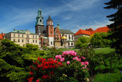 Krakau, Polen. De kathedraal en het kasteel van Wawel stock afbeeldingen