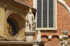 Krakau, Polen. De kathedraaldetail van Wawel stock fotografie