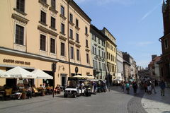 Krakau in Polen, de Koning City Stock Foto's