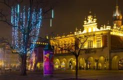 Krakau, Polen - 29. Dezember 2017: Renaissance Sukiennice oder Stoff Hall in Krakau, Polen Lizenzfreies Stockbild