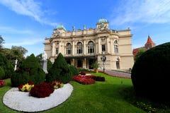 Krakau, Polen, großartige Opern-Theater lizenzfreie stockbilder
