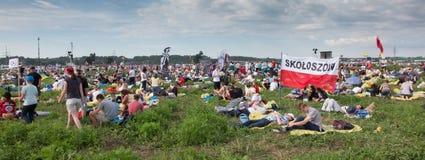KRAKAU, POLEN - 31 JULI, 2016: Niet geïdentificeerde deelnemers van Worl Royalty-vrije Stock Foto