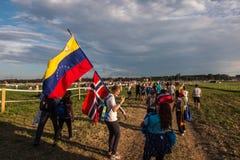 KRAKAU, POLEN - 31 JULI, 2016: Niet geïdentificeerde deelnemers van Worl Royalty-vrije Stock Foto's