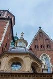 KRAKAU, POLEN - JUNI 2012: Ansicht über das Wawel-Schloss Stockfotografie