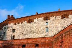 KRAKAU, POLEN - JUNI 2012: Wände von Wawel-Schloss Stockfotografie