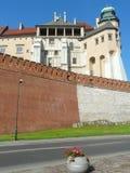 KRAKAU, Polen-königliches Schloss in Krakau Wawel stockbild