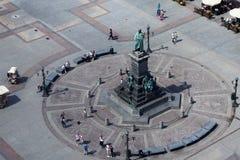 KRAKAU, POLEN - 29. MAI 2016: Adam Mickiewicz-Monument am Hauptmarktplatz Stockfotos