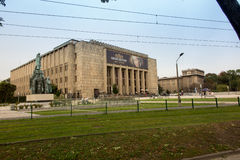 Krakau, Polen - Oktober 2, 2016: De bouw van Nationaal Museum i Royalty-vrije Stock Fotografie
