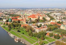Krakau Polen, Panorama stockbild