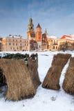 Krakau, Polen Schloss- und Heuballen Wawel lizenzfreie stockbilder
