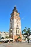 Krakau. Alter Rathaus-Turm stockbilder