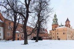 Krakau, Polen Wawel Schloss stockfotos