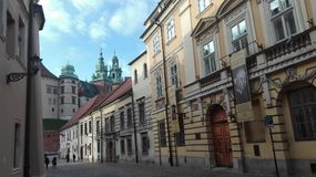 Krakau-Straßenansicht Lizenzfreie Stockfotografie