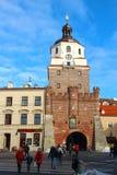 Krakau-Tor, Lublin, Polen Lizenzfreie Stockbilder