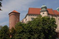 Krakau, Wawel, castl Stock Foto