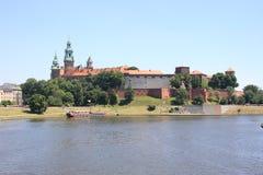 Krakau: Wawel königliches Schloss Stockbild