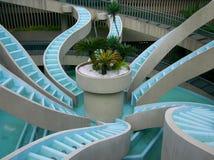 Krake-geformter Brunnen Stockfoto
