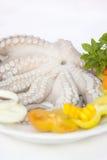 Krake mit Frischgemüse Stockbild