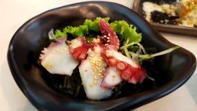 Krake mit saures Soße ponzu japanischer Art Lizenzfreie Stockfotos