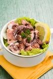 Krake-Salat Stockfoto