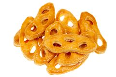 Krakeling a Dutch cookie isolated on a white Stock Photography