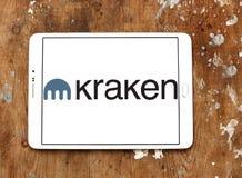 Kraken bitcoin wymiany logo Fotografia Stock