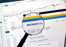 Kraken Cryptocurrency Exchange Stock Photos