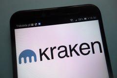 Kraken logo on a smartphone