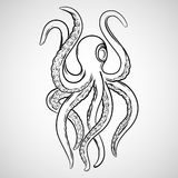 Kraken tattoo vector Royalty Free Stock Photos