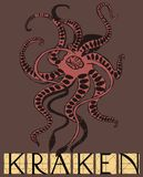 Kraken with title Royalty Free Stock Photo