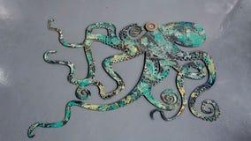 Kraken-Wand-Kunst Lizenzfreie Stockfotos