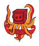 Krakendesign-T-Shirt Rot Lizenzfreies Stockfoto