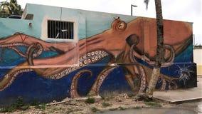 Krakenwandgemälde Stockbilder