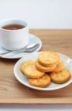Krakers i herbata Zdjęcie Royalty Free