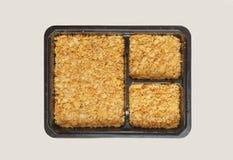 Krakers skorupa w kwadratowym pudełku Zdjęcia Royalty Free