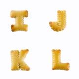 Krakers w postaci abecadła: I-L Obrazy Stock