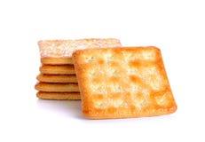 Krakers z cukierem odizolowywającym na białym tle Zdjęcia Royalty Free