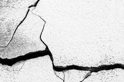 Krakingowa betonowa ściana textured lub tło, betonu brudny dowcip Obrazy Royalty Free